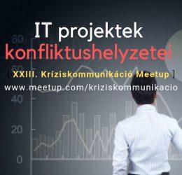 Az IT projektek konfliktushelyzetei meetupról